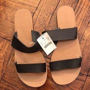 Jcrew Black sandals